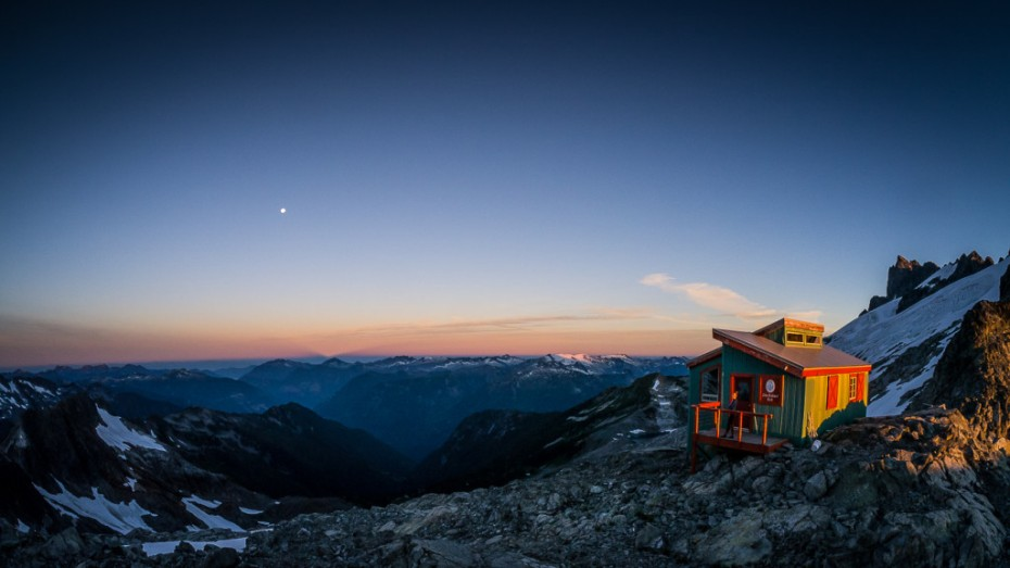 The Haberl Hut looking south.  Photo credit: Pebbleshoo