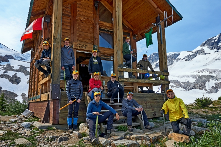 The participants at the 2015 Mountaineering Camp: Rogers Pass are ready for a week of alpine adventure! Seven of the team came from Ontario and five came from British Columbia.